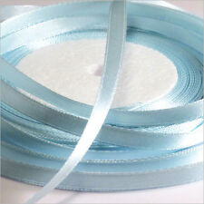 Ruban Satin 6mm Bleu Dragée Lot de 2 rouleaux 44 Mètres