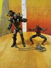 "Marvel Universe Hasbro 3.75"" War Machine & Spider-man action figure lot avengers"