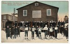 Rare Postcard - Ski Race - Kenora Ontario Canada ca 1906 - Winter Sports Skiing