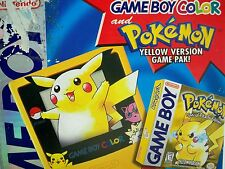 D05000371 GAMEBOY POKEMON PIKACHU YELLOW COMPLETE IN BOX WORKING TESTED NINTENDO