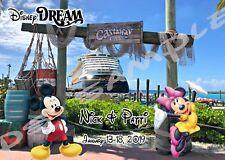 5x7 CUSTOM Disney Cruise Door Magnet - CASTAWAY CAY DISNEY DREAM