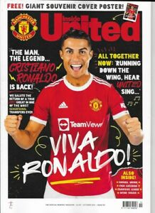 MANCHESTER UNITED OFFICIAL MAGAZINE + RONALDO POSTER - NUMBER 351 OCTOBER 2021