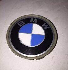 BMW E53 X5 GENUINE OEM WHEEL RIM HUB CAP CLIPPED-ON PLAQUE, BLUE COLOR