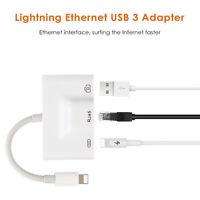 Adaptateur carte de caméra USB avec câble réseau LAN Ethernet foudre vers RJ45