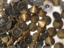 CraftbuddyUS 100pcs 8mm Bronze/Gold Hotfix Cone Spike Studs  DIY Gems, Stick on