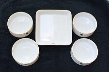 Air Jamaice - Set of 4 Ramekin Bowls & Serving Tray - China