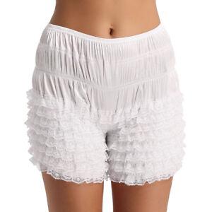 Women's Tiered Ruffle Lace Bloomers Panties Boxer Shorts Pettipants Boyshorts