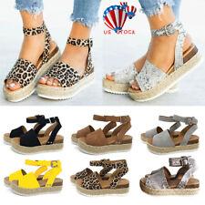 65c2c6575f2 Straps Platform Espadrilles Sandals for Women for sale | eBay