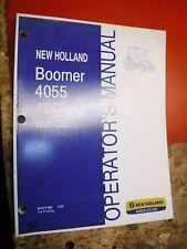 2008 NEW HOLLAND BOOMER 4055 4060 TRACTOR CAB ORIGINAL FACTORY OPERATORS MANUAL