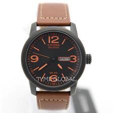 Citizen BM8475-26E Eco-Drive Military Sport Brown Leather Analog Men's Watch