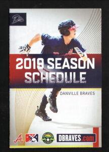 Danville Braves--2019 Pocket Schedule--Danville Community College--Appalachian