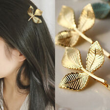 FJ- VINTAGE LEAVES HAIR CLIP ACCESSORY PARTY BARRETTE GIRL HAIRPIN COCKTAIL NICE