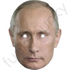 Máscara de tarjeta de Vladimir Putin Presidente ruso-todas nuestras máscaras son pre-corte!