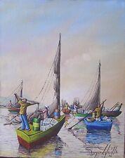 Beautiful Seascape by Haitian Artist Raymond Lafaille