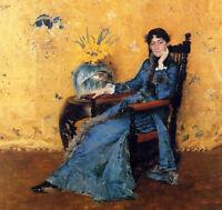 Oil painting William Merritt Chase - Portrait of Miss Dora Wheeler in chair