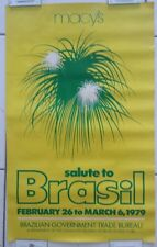 Vintage 1979 Macy's Salute to Brasil Poster /Brazilian Government Trade Bureau