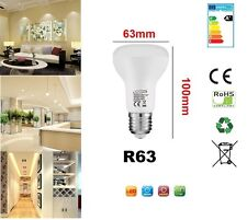 R63 LED 9 W E27 Replacment Per Riflettore R63 Lampadina Cool Bianco 720 LM