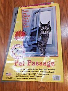 """Ideal Pet Products Pet Passage Screen Door 7.25"""" x 14.5"""" Opening Cat Screen Door"""