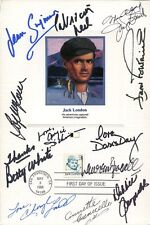 FIRST DAY COVER CARD SIGNED BY 12 HOLLYWOOD LEGENDS    DAY+LOREN+DEBBIE REYNOLDS