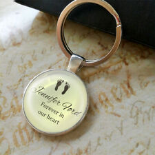 Personalised Baby Loss photo Keyring Miscarriage Infant Gifts Memory Bereavement