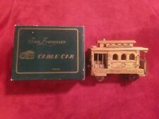 Wooden San Francisco Cable Car Music Box / #25 Powell & Hyde St