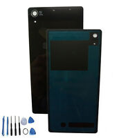 black Back Door Battery Glass Cover Case For Sony Xperia Z2 L50W D6502 D6503