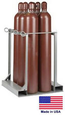 CYLINDER STAND PALLET for LP Propane Welding Gases Compressed Air - 6 Tank Cap