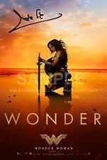 Wonder Woman Poster Photo Signé PP 12x8 Gal Gadot Justice League autographe