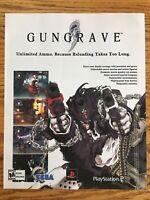 Gungrave PS2 Playstation 2 Sega 2002 Vintage Video Game Poster Ad Art Print Rare