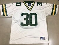 VTG Mens Adidas Green Bay Packers NFL Football #30 Ahman GREEN Sz L White Jersey