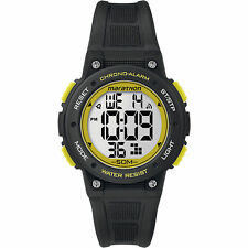 Timex TW5K84900, Unisex Marathon Black Resin Watch, Indiglo, Alarm, Stopwatch