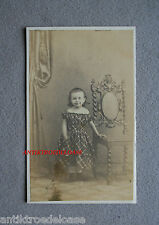 Vieille Photo Du Cabinet Chaise CDV Enfants,Intérieur, Berlin 1870, Real Photo