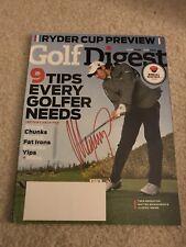 Matteo Manassero Signed Autographed Golf Magazine PGA Tour