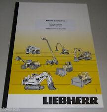 Manuel d'utilisation Liebherr A 904 C-Litronic Pelle hydraulique Stand 2009