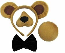Bear ears tail and nose with sound wild animal Teddy costume accessory kit