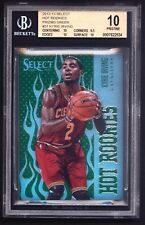 2012-13 KYRIE IRVING HOT ROOKIE PRIZM GREEN REFRACTOR BGS 10 /15 10 CENTERING