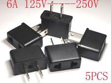 Eu/Us/ to Us/Usa/America Ac Power Plug Adapter Socket 250V to 110V 6A 5pcs