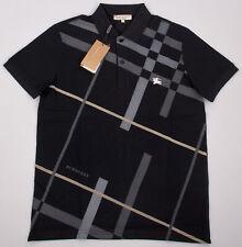 Burberry Polo Shirt Mens Cotton Polo in Black