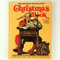 Christmas Book The Saturday Evening Post Norman Rockwell Hardcover 1979