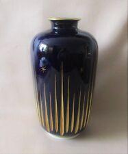 H&C Heinrich Selb Bavaria - Vase 30 cm., Echt Kobalt, Gemmo handgeschliff Gold
