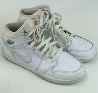more photos beaa9 91aa9 Nike Air Jordan 1 Mid Retro GS Shoes White 554725-102 Youth Size 6 Y