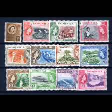 Dominica 1954-62 Set To 24c. Sg 140-153. (No 3c Or 5c Sg 143 146) . Fu. (At153)