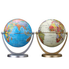 360 Rotating Earth World Geography Map Education Table Desktop Ball Globe Stand