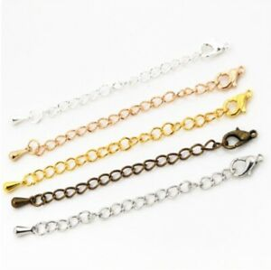 Extender Tail Chain Lobster Clasps Connector Findings Bracelet Necklace Jewelry