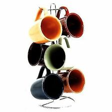 Gibson Home Cafe Amaretto 7 -piece Mug Set With Wire Rack