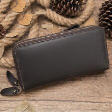 Men Wallet Genuine Leather Purse Clutch Male Long Partmone Zipper Coin Money Bag