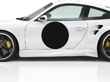 "3 X 15"" White Rally Background Circles Car Door Round Race Sticker Vinyl Drift"