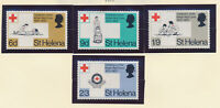 St. Helena Stamp Set Scott #236-9, Mint Very Lightly Hinged, Red Cross