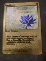 MTG MAGIC THE GATHERING GOLD METAL BLACK LOTUS RARE CARD