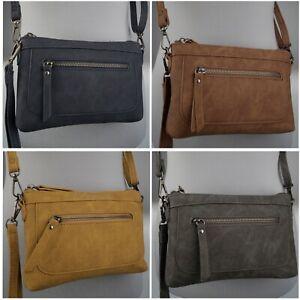Damen Umhängetasche 22x15  Schultertasche Crossover Handtasche Ausgehtasche 6361